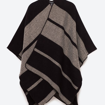 BROAD STRIPED PONCHODETAILS