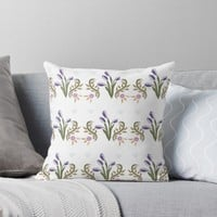'Mauve Tulips' Throw Pillow by Carmen Ray Anderson