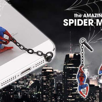 Spider-M-an Shape Cool Cartoon Design Phone Anti Dust Plug Cell Phone Accessories For Iphone And all 3.5mm Earphone Jack Plug