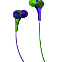 Maxell 190343 Wild Things Purple and Green Leopard In-Ear Buds