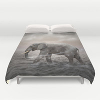 May the Stars Carry Your Sadness Away (Elephant Dreams) Duvet Cover by soaring anchor designs ⚓ | Society6