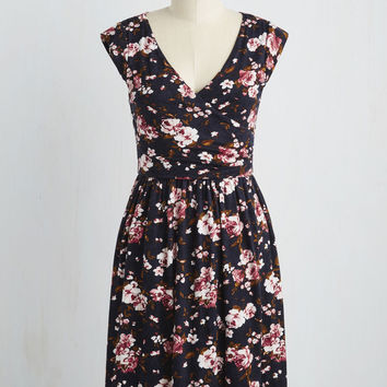 Breezier Said Than Done Dress in Roses