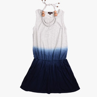 Imoga Pat Necklace Dress in Navy Ombre - FINAL SALE