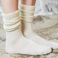 Creamy Taupe Ankle Boot Socks by Boot Cuffs & Socks (set of 2)
