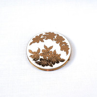 REX FIFTH AVE Vintage Compact,Large Flapjack Compact,Old Powder Compact,Refillable Compact,Collectible Compact Mirror,Unique Bridesmaid Gift