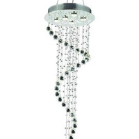 Bernadette - Large Hanging Fixture (5 Light Contemporary Grand Crystal Chandelier) - 1724G48
