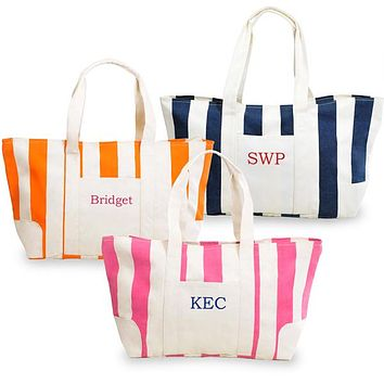 Cabana Bags - Nautically Inspired Striped Canvas Tote