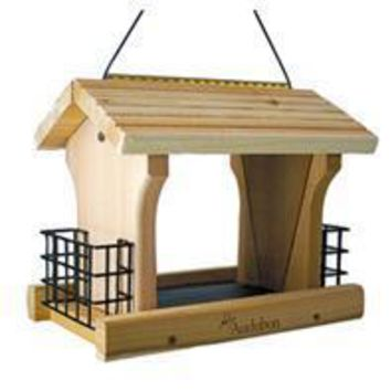 Audubon/woodlink - Cedar Wood Ranch Style Bird Feeder W/suet Holders