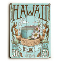 Hawaii by Artist Biljana Kroll Wood Sign
