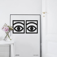 Olle Eksell Printable - Cacao Eyes Poster - Printable Art - Scandinavian Art - Nordic Wall Art- Minimalist Art - Wall Decor Art - Simple Art