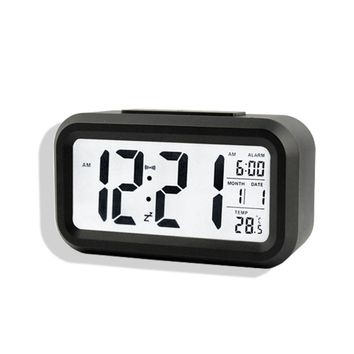 Digital Desk Clocks Calendar Thermometer Large LCD Table Clocks Multi-functional Alarm Clock LED Display Electronic Desk Clock
