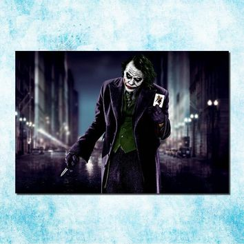 Batman Dark Knight gift Christmas Batman Joker Arkham City Origin Art Silk Canvas Poster Print 13x20 24x36inches Game Wall Pictures (more)-3 AT_71_6