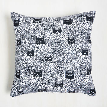 Some Purrs and Quiet Pillow | Mod Retro Vintage Decor Accessories | ModCloth.com