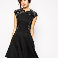 Ted Baker Mini Dress in Lace at asos.com
