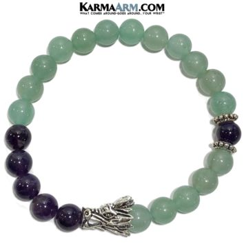 ATTRACT SUCCESS: Aventurine | Amethyst | Dragon Yoga Chakra Bracelet