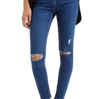 Women's Topshop Moto 'Jamie' High Rise Ripped Jeans ,