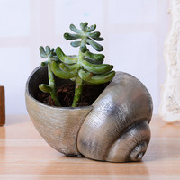 Small Snail Shaped Ceramic Succulent Planter Pot