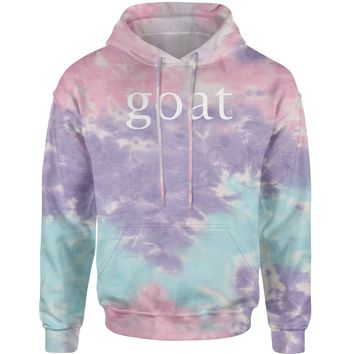 GOAT - Greatest Of All Time  Tie-Dye Adult Hoodie Sweatshirt