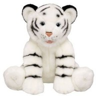 Build a Bear Workshop White Tiger Stuffed Animal, 14 in.
