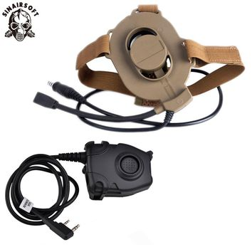 Z-Tactical Airsoft Bowman Elite II Headset Hunting For Kenwood Wearable Earphone Tactical Pins PTT Pin Military Z-TAC Midland DE