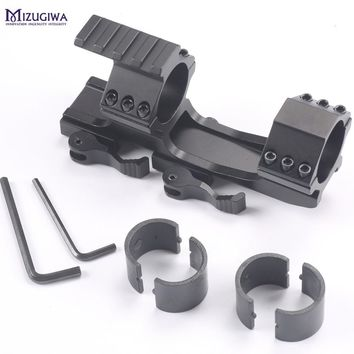 """Tactical QD Quick Release Scope Mount 1"""" 25mm/30mm Cantilever Dual Ring for 20mm Picatinny Rail  Base for Hunting Riflescope"""