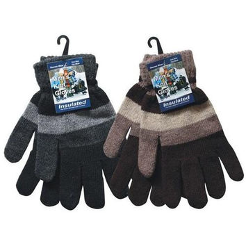 Men's Knitted Stripes Gloves