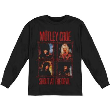 Motley Crue Men's  Shout Wire  Long Sleeve Black