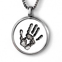 Custom Handprint Pendant Necklace - Jak Figler - Made to Order - Jewelry - Necklace - Mother's Day - New Moms