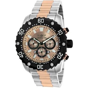 Invicta Men's 22520 Pro Diver Quartz Chronograph Rose Gold Dial Watch