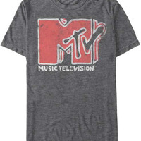 Mens MTV Scribble Logo Retro T-Shirt