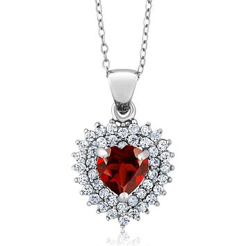 925 Silver Natural Red Garnet Necklace