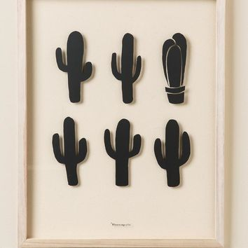 Cactus Framed Wall Decor