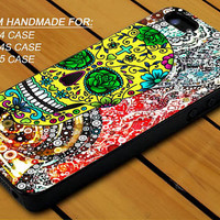 Day Of The Dead Sugar Skull Paisley - iPhone 4 / 4s or iPhone 5 Case - Hard Case Print - Black or White Case - Please leave message