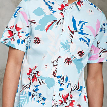Slim-Fit Tropical Floral Shirt