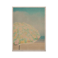 "Laura Evans ""A Summer Afternoon"" Blue Teal KESS Naturals Canvas (Frame not Included)"