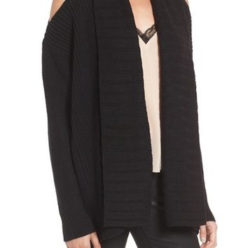 Chelsea28 Shawl Collar Cold Shoulder Cardigan | Nordstrom