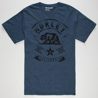 Hurley Cali Mens T-Shirt Heather Navy  In Sizes