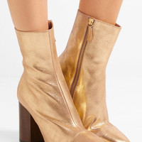 Brother Vellies - Bianca metallic brushed-leather ankle boots