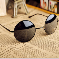 Thin Bar Round Sunglasses