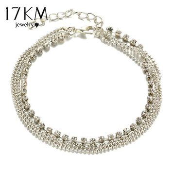 One PC Multi-layer Sexy Crystal Ankle Foot Chain Summer  Bracelet