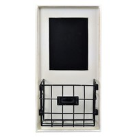 Belle Maison Chalkboard and Basket Wall Decor (White)