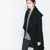 WOOLLEN WRAPAROUND COAT - Coats - Woman | ZARA United States