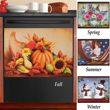 Seasonal Dishwasher Magnets - Set of 4