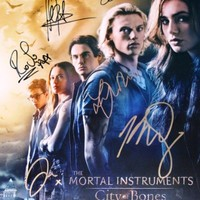 The Mortal Instruments City of Bones reprint signed 12x18 movie poster photo RP