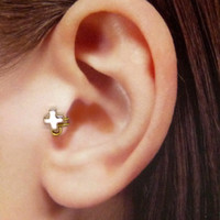Rose gold plated charm Ear Cuff, Nose cuff, Tragus cuff, Non Pierced Nose Ring, Cartilage, Fake piercing