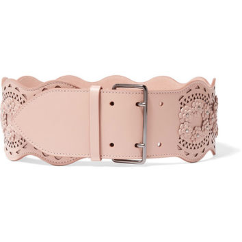 Alaïa - Vienne appliquéd laser-cut leather waist belt