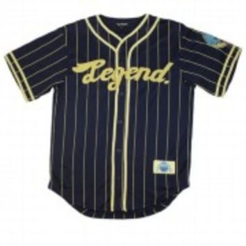 Pink Dolphin Clothing LTD Legend Baseball Jersey Navy White S M L XL XXL Summer