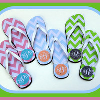 Flip Flops, Monogram Flip Flop, Teacher Gift, Graduation Gift, Personalized Flip Flops, Bridal Party Gifts, Flip Flops, Sorority Gifts