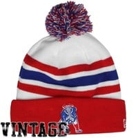 New Era New England Patriots On-Field Classic Cuffed Beanie - White/Red