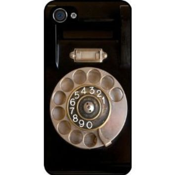 Retro Rotary Telephone Black Hard Case Cover for Apple iPhone